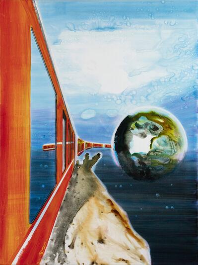 John Kørner, 'Space train leaving earth', 2018