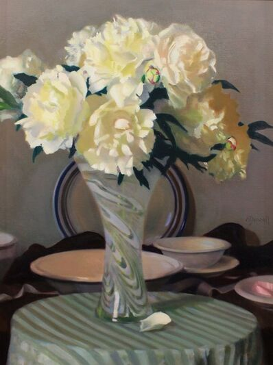 Joshua O'Donnell, 'Peonies in an Art Glass Vase', 2015
