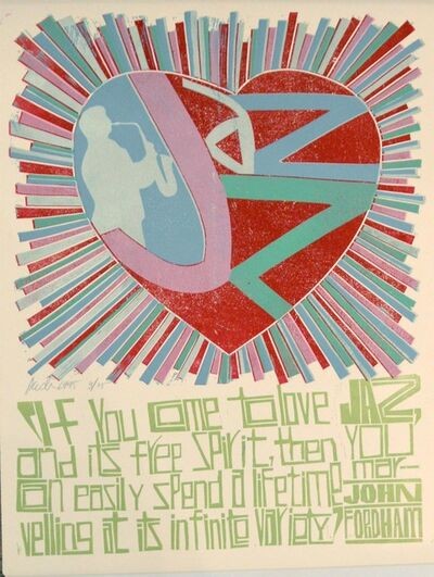 Paul Peter Piech, 'Jazz Sayings, John Fordham', 1995