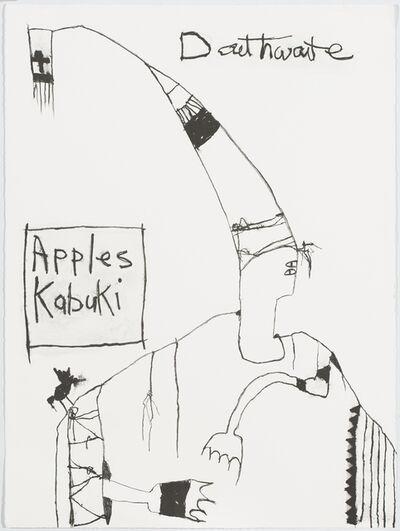 Pat Douthwaite, 'Apples Kabuki Title', 1988