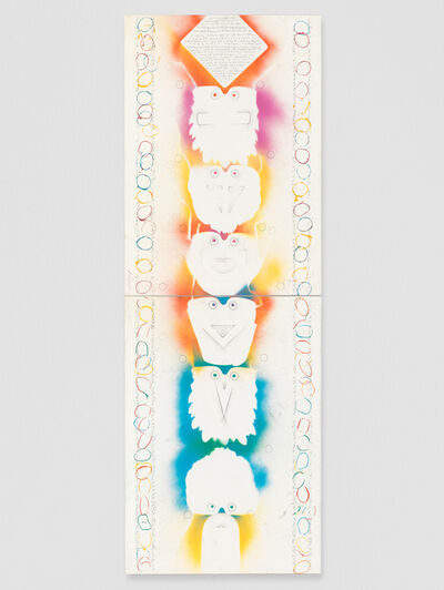 Alighiero Boetti, 'Totem', 1988-1989