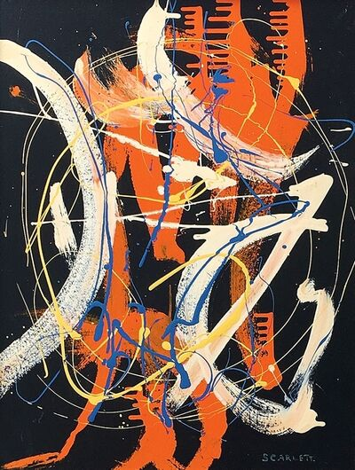 Rolph Scarlett, 'Untitled Drip Abstraction', 1945-1950