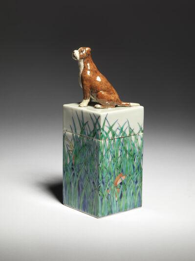 Kensuke Fujiyoshi, 'Hound and Grassland rectangular box', 2021