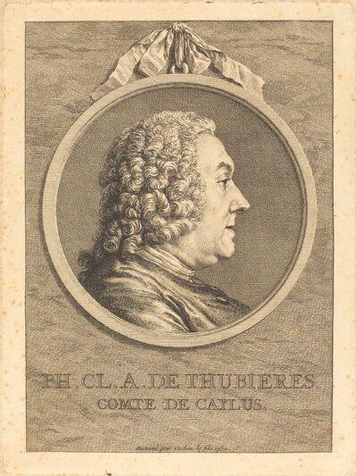 Charles-Nicolas Cochin II, 'Ph.Cl.A. de Thubieres, Comte de Caylus', 1752