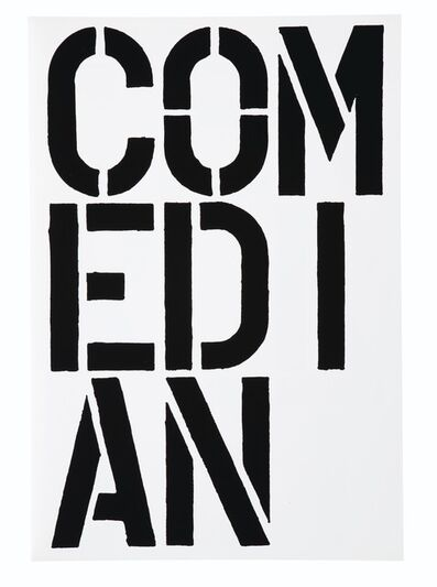 Christopher Wool, 'Comedian (Black Book)', 1989