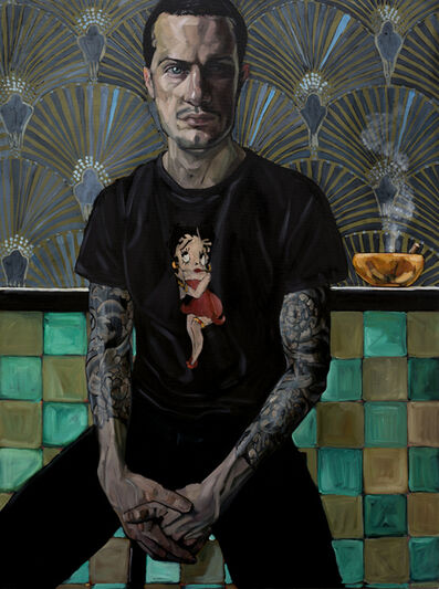 Belinda Eaton, 'Man With Orange Ashtray', 2018