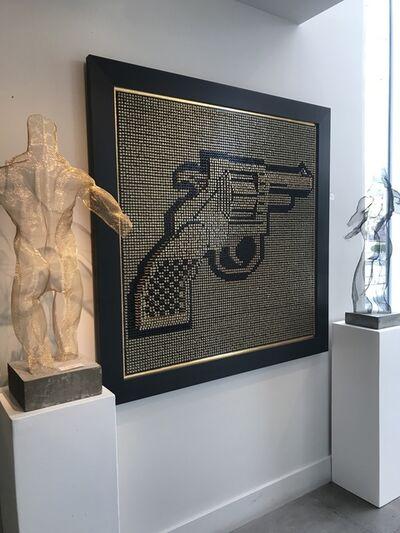 "Efraim Mashiah, 'Screw Board ""Gold Gun""', 2018"