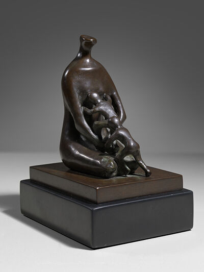 Henry Moore, 'Mother with Twins', 1982