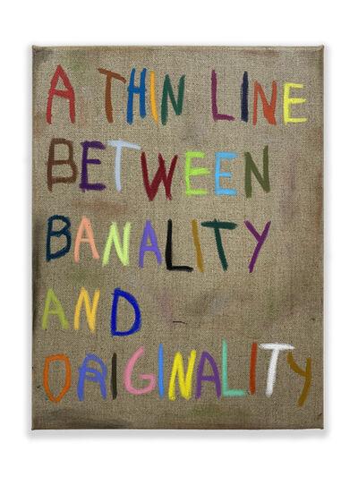 CB Hoyo, 'A Very Very Very Very Very Thin Line', 2021