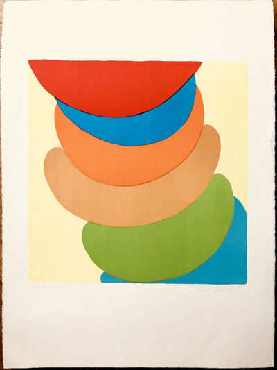 Sir Terry Frost, 'Red, Blue, Orange on Yellow', 1969