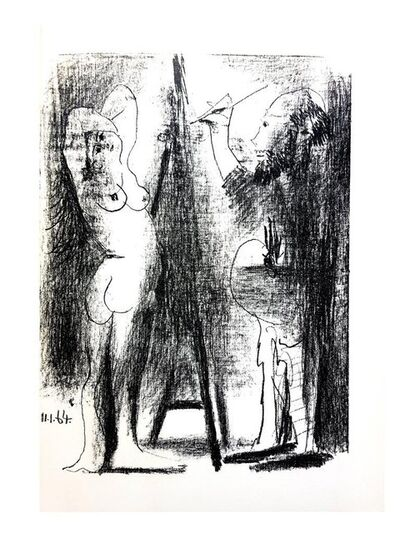 "Pablo Picasso, 'Original Lithograph ""The Painter and his Model II"" by Pablo Picasso', 1964"