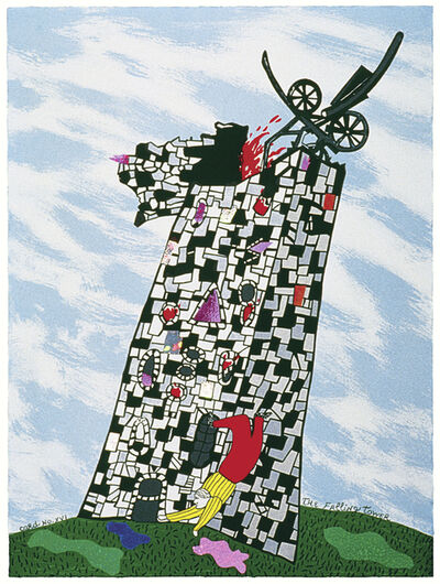 Niki de Saint Phalle, 'The Falling Tower Card No. XVI', 1997