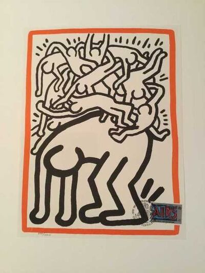 Keith Haring, 'Untitled (United Nations) ', 1990