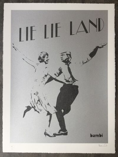 Bambi, 'Lie Lie Land (Silver) just one available from the long since sold out edition', 2017