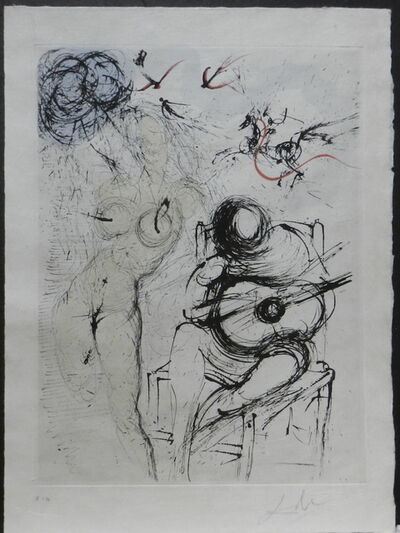 Salvador Dalí, 'Poems Secrets Nude With Guitar', 1967
