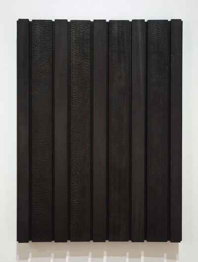 David Nash, 'Charred Striped Panel', 2002