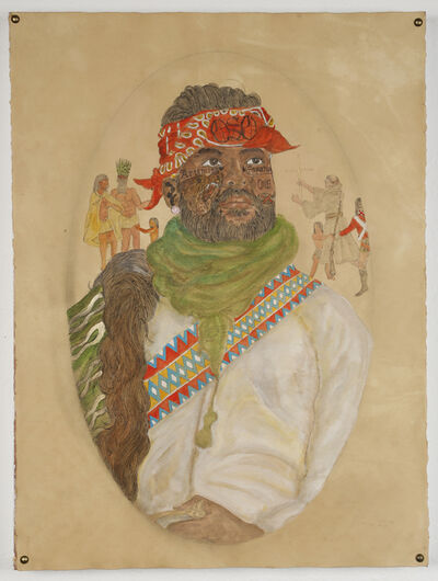 Umar Rashid (Frohawk Two Feathers), 'Look. A colonial Chimera you made me. Hernando, ran away from his Tataviam family to serve Odiseo and his Religious fanaticism.', 2016