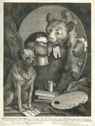 William Hogarth, 'The Bruiser, C.Churchill …', 1763