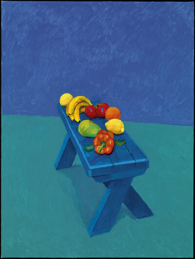 "David Hockney, '""Fruit on a Bench, 6th, 7th, 8th March 2014"" from ""82 Portraits and 1 Still-Life"" ', 2014"