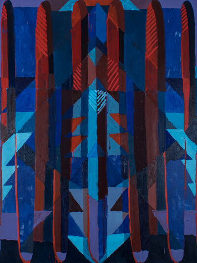Aschely Cone, 'Diamond Stripes Escalator', 2017