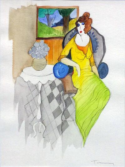 Itzchak Tarkay, 'UNTITLED (WOMAN BY THE WINDOW)', UNKNOWN