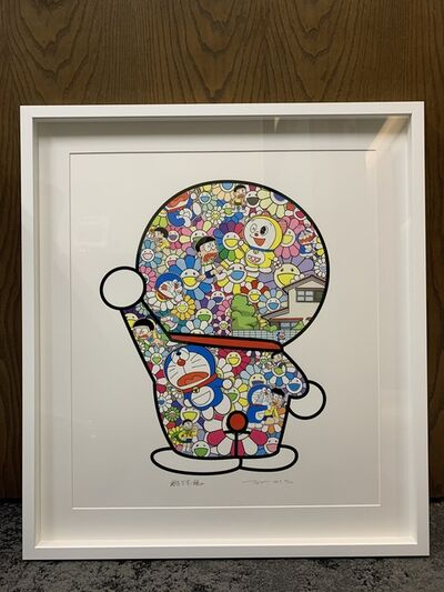 Takashi Murakami, 'Doraemon in the Field of Flowers (Signed & Framed)', 2019