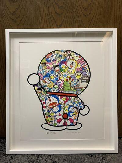 Takashi Murakami, 'Doraemon in the Field of Flowers (Signed & Framed)', 2019