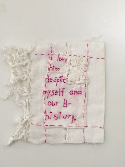 Iviva Olenick, 'B- Story - Love narrative embroidery', 2019