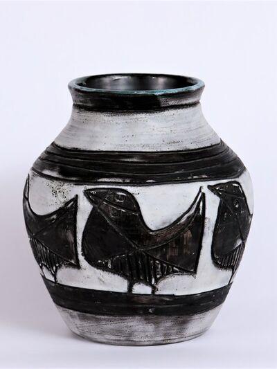 Jacques Pouchain (1925-2015), 'Vase aux Oiseaux', ca. 1950