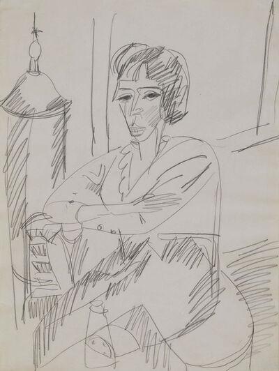 Ernst Ludwig Kirchner, 'Sitzende Frau (Erna vor dem Ofen)', ca. 1914