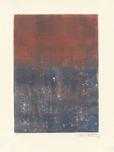 Makoto Fujimura, 'Van Nuys Monotype Series No. 9 凡奈斯絹印單刷系列', 2017