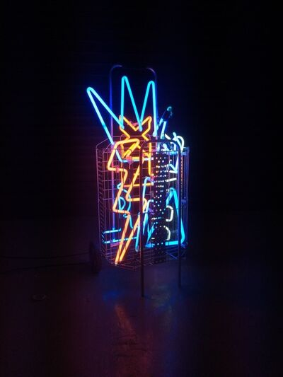 Alê Jordão, 'Street Fair Trolley Neon', 2018