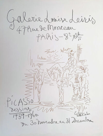Pablo Picasso, 'Galerie Louise Leires Leires, Picasso Dessins 1959-1960, HOLIDAY SALE $300 OFF THRU MAKE OFFER', 1960