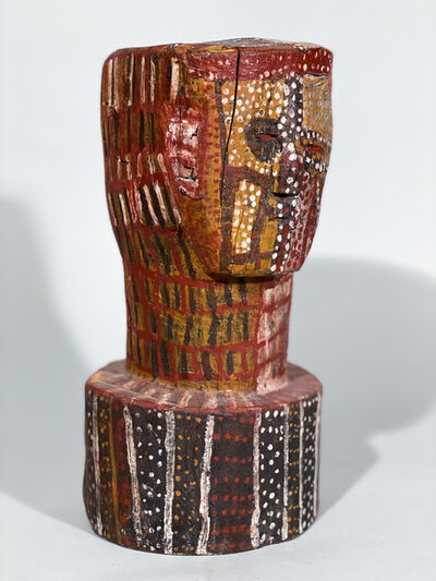 Unknown Artist, 'Painted Bust attributed to Aboriginal Tiwi artist  Kitty Kantilla (Kutuwalumi Purawarrumpatu) ', 20th century