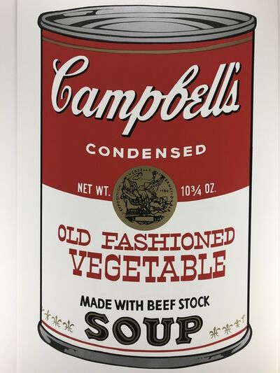 Sunday B. Morning, 'Campbells Soup – OLD FASHIONED VEGETABLE', ca.1980