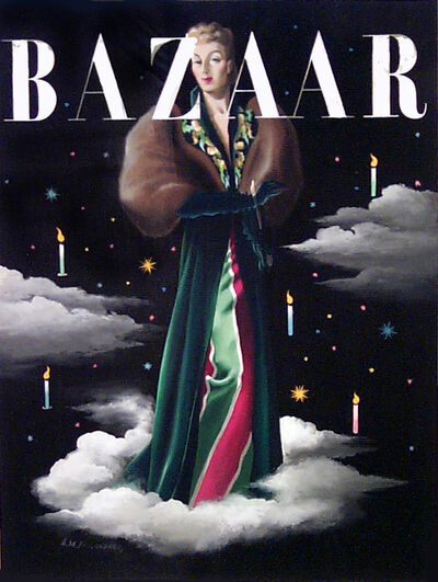 A.M. Cassandre, 'HARPER'S BAZAAR 1939 MAQUETTE FOR THE COVER (WOMAN WITH CANDLES)', 1939