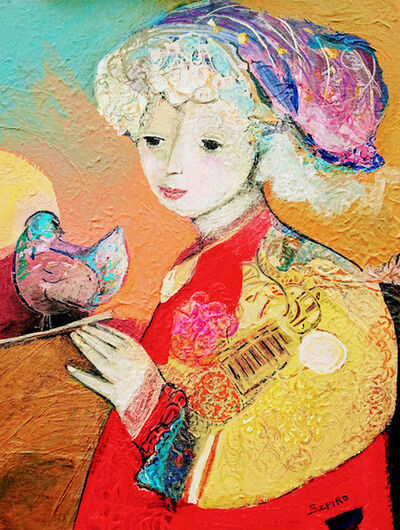 Brigitte Szpiro, 'La fille et l'oiseau', 2018