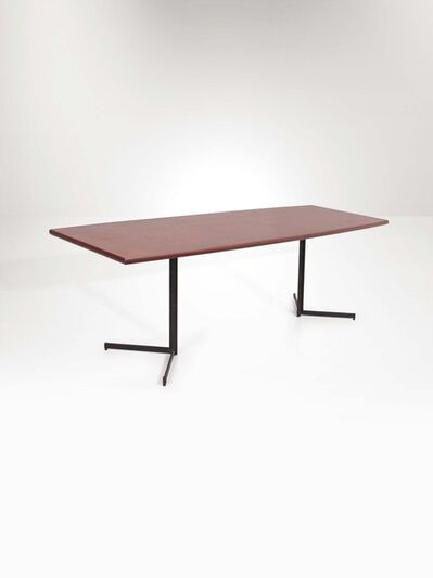 Franco Campo and Carlo Graffi, 'A mod. Pancrazio table with a metal structure and a wooden top', 1960 ca.