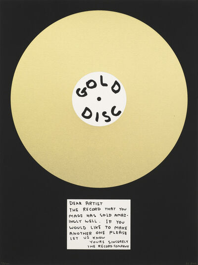 David Shrigley, 'Gold Disc', 2012