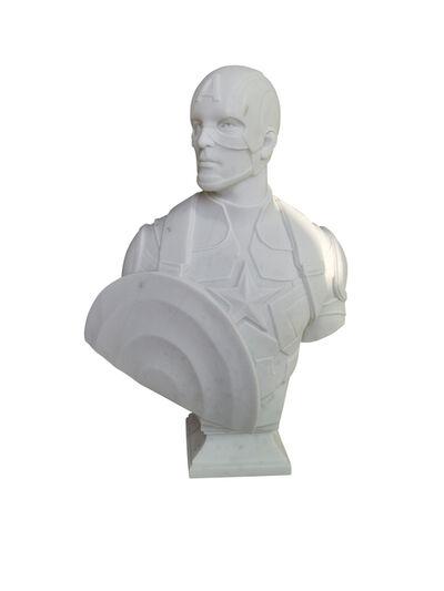 Léo Caillard, 'Heroes in Stone (Captain America)', 2019