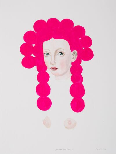 Anne Siems, 'Neon Pink Hair Drawing ', 2018