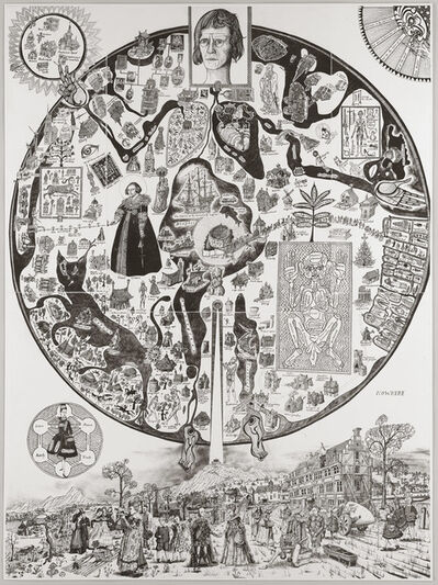 Grayson Perry, 'Map of Nowhere (Black Variant)', 2008