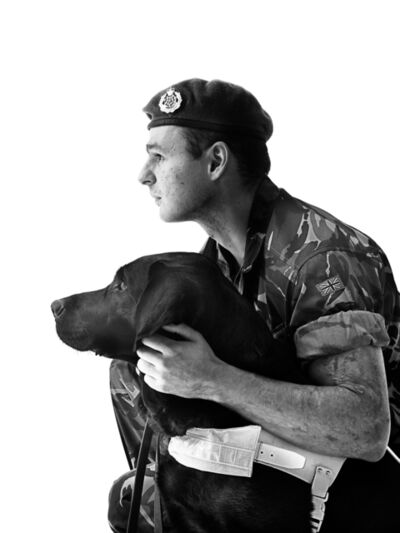 Bryan Guy Adams, 'Lance Corporal Craig Lundberg with Hugo', 2011