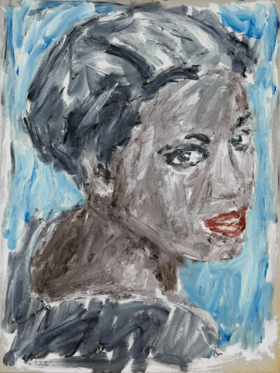 Christian Lindow, 'Untitled (Woman's Head, Sad)', not dated