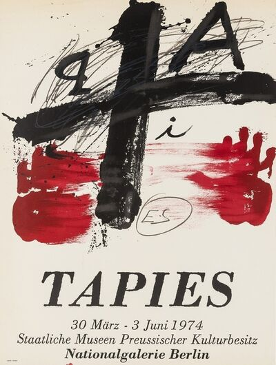 Antoni Tapies, 'An exhibition poster for Nationalgalerie Berlin', 1974