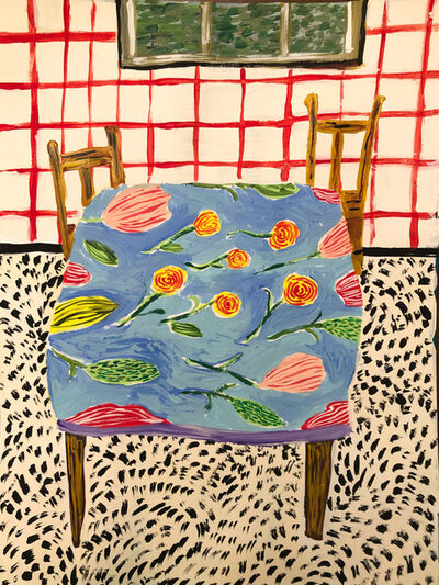 Polly Shindler, 'Kitchen with Red Wallpaper ', 2020