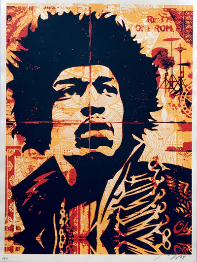 Shepard Fairey, 'Jimi Hendrix ', 2004