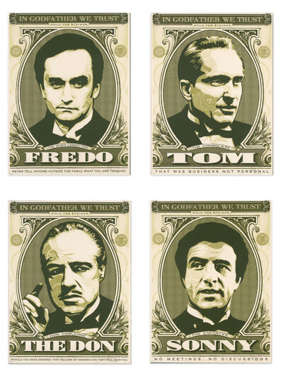 Shepard Fairey, 'In Godfather We Trust - Complete Series by Obey Giant (Shepard Fairey)', 2006