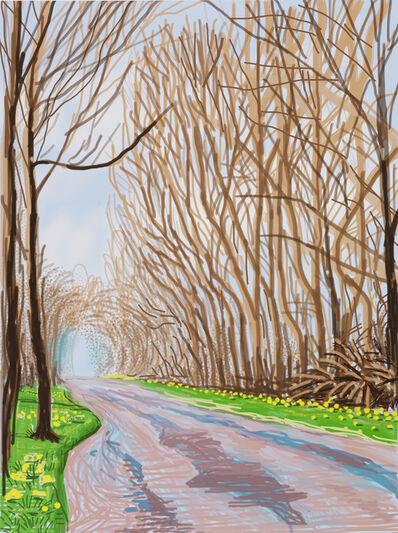 David Hockney, 'The Arrival of Spring in Woldgate, East Yorkshire in 2011 (twenty eleven) - 1 April 2011', 2011
