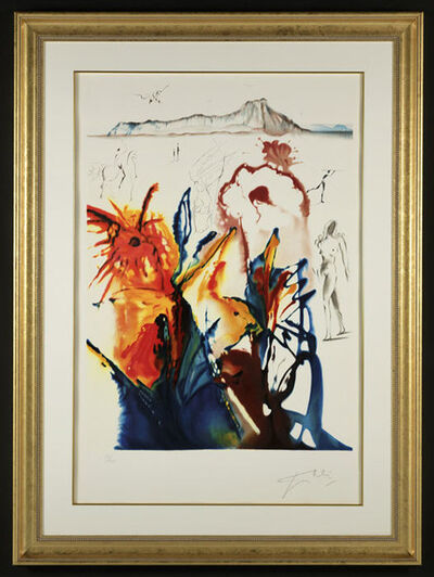 "Salvador Dalí, '""The Mystery of Diamond Head"" Hand Signed Salvador Dali Lithograph', 1941-1957"